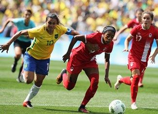 Lawrence, Ashley - Brazil, Canada - Football - Canada, Brazil - Women - Women's Bronze Medal Match - Corinthians Arena