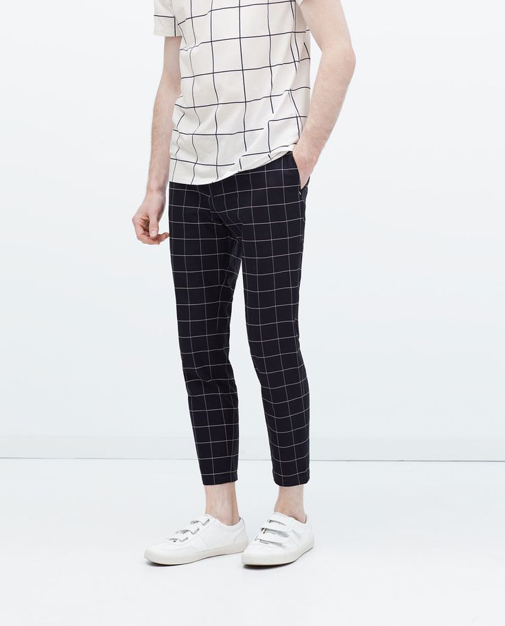 CHECKED TROUSERS-View all-Trousers-MAN | ZARA United States