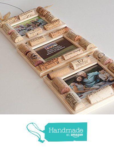 Wine Cork Frame, Cork Frame, Wine Cork Crafts, Three Tier Set Of Frames, Engagement Gift, Wine Gift Ideas from AZWINEGROUP https://www.amazon.com/dp/B01GM1RK9O/ref=hnd_sw_r_pi_dp_z9Nmyb6MRW1AK #handmadeatamazon