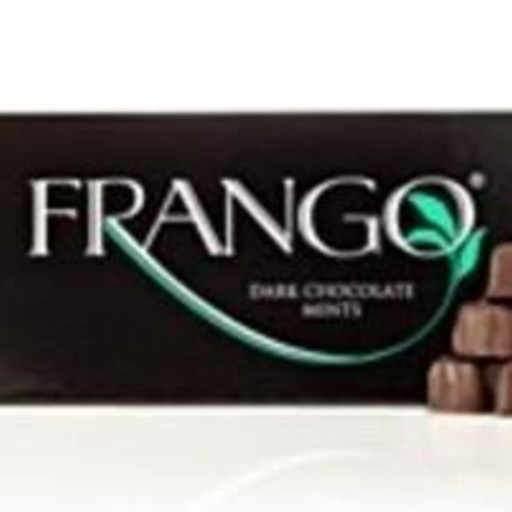Frango mints are a brand of chocolate truffles 1st created for the Frederick & Nelson department stores. Traditionally flavored with mint & widely popularized by the Marshall Field & Company department store, now  produced & distributed by Macy's department stores.  Frangos were created in 1918; the company & Frango trademarks were both acquired by Chicago's Marshall Field's department store, which introduced its recipe in 1929