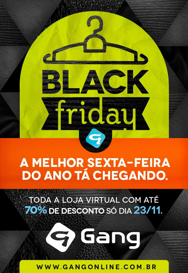 Black Friday - Gang by Luiza Hickmann, via Behance