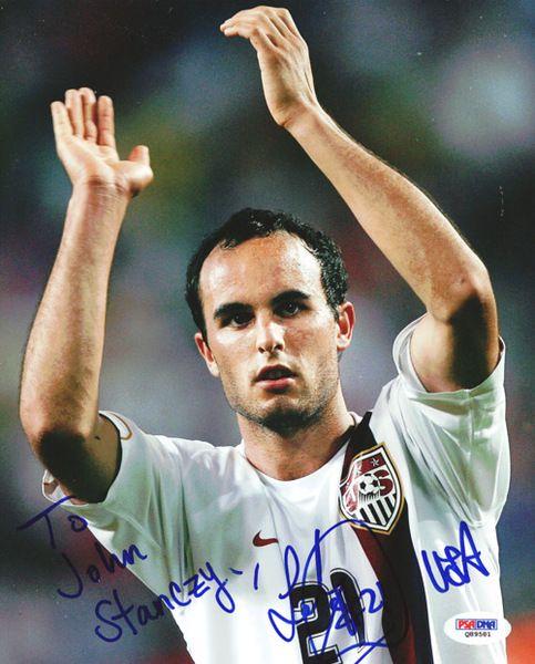 landon donovan autographed 8x10 photo to john psadna
