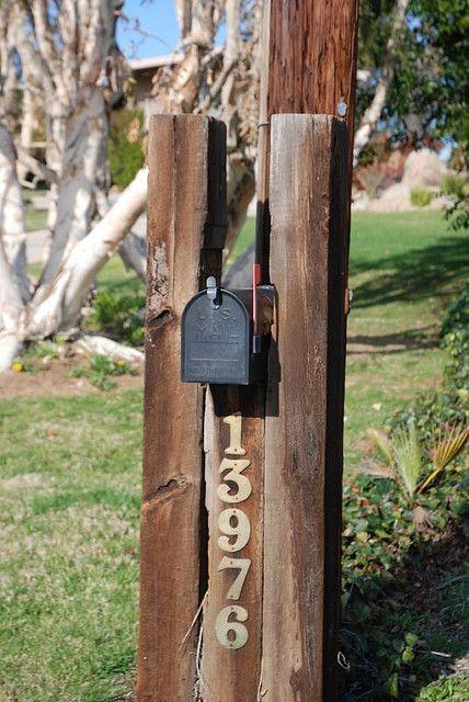 Railroad ties mailbox in Rancho Bernardo