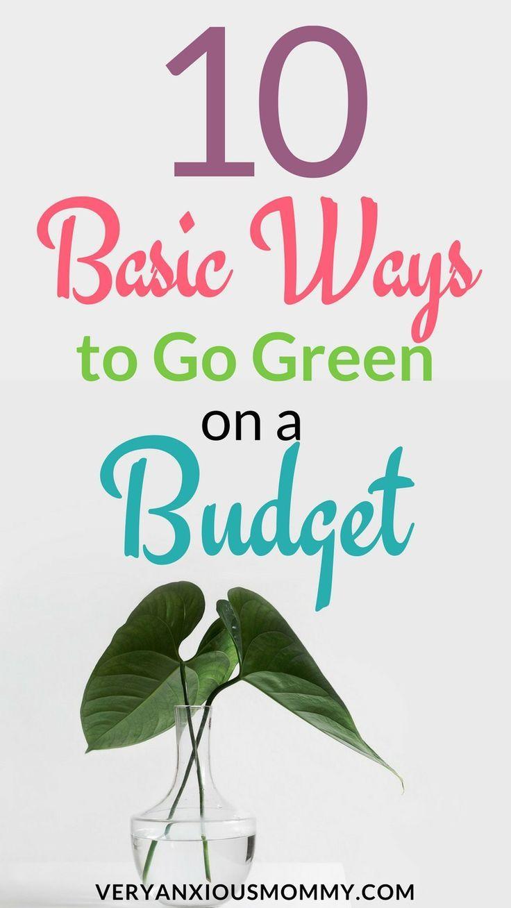 10 basic ways to go green on a budget best make money earn money rh pinterest com