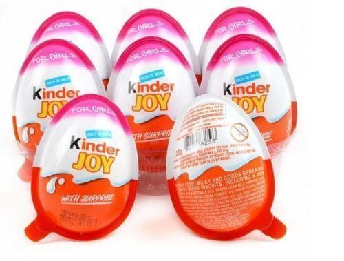 12 Kinder JOY Surprise Eggs for GIRL,Chocolate Toy Inside,Kids Easter Eggs Gift #KinderJOY