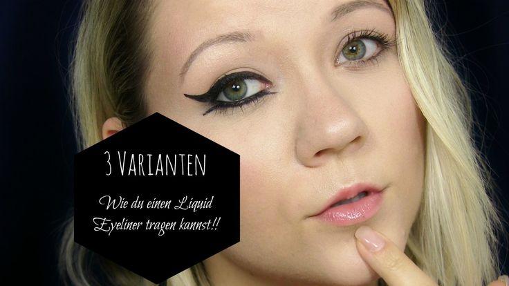 So trägst du deinen Eyeliner auf ! Ich zeige dir 3 Varianten für Anfänger und Fortgeschrittene, wie du deinen Liquid Eyeliner auftragen kannst. Vom Alltagslook hin zum speziellen Arabic Look. Reinschauen lohnt sich! #Eyeliner #Beauty #Blogger #beautyblog #Kosmetik #Eyeliner auftragen #Eyeliner schminken
