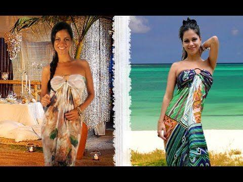 Passo a Passo: Formas de usar lenços como Saída de Praia Bustier by Based On Brasil - YouTube