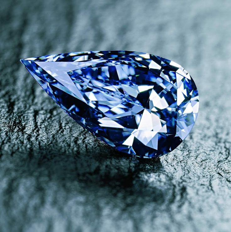 14-carat Blue Empress diamond from the De Beers Premier Diamond Mine in South Africa.