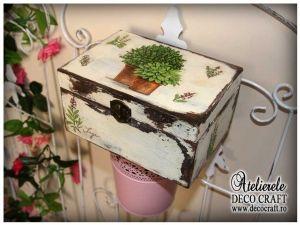 Caseta cu ierburi Provance, realizata la Atelierul Deco Craft - Shabby Chic si Tehnica servetelului #shabby_chic #ateliere_creatie #servetele_provance #tehnica_servetelului #servetele_decoupage