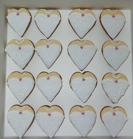 Heart shape wedding cookies