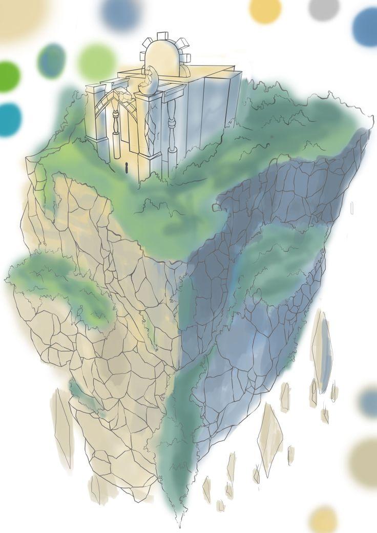천공의섬 채색 초벌