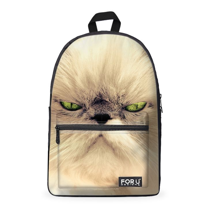 Angry Cat Cotton Backpack