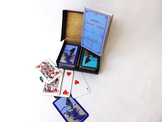 Vintage #PlayingCards #Patience Card Players Gift #ManCave