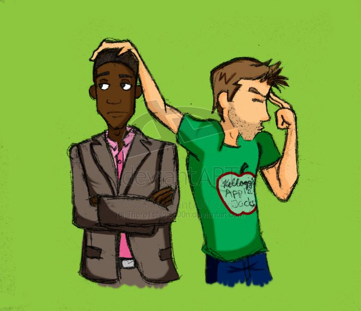 this is gus and shawn from the tv show psych! love it! Magic Head