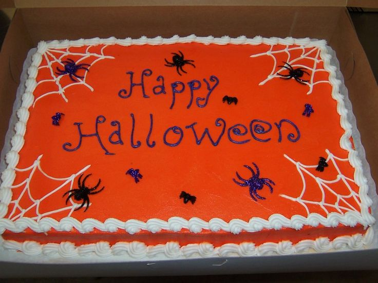halloween sheet cake on cake central - Halloween Decorated Cakes