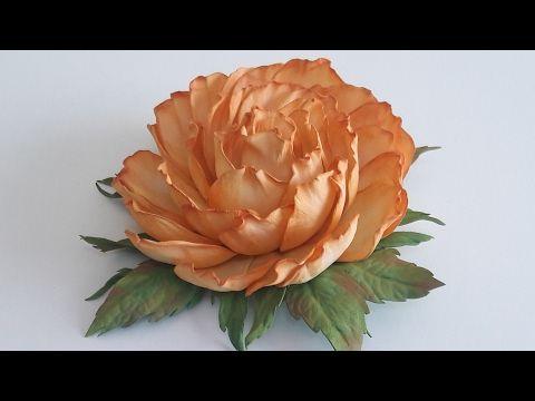 МК. Заколка  роза из фоамирана.Простой способ! Hairpin rose from foamirana.Prostoy Way! - YouTube