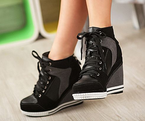 Sneaker l Wedge l Grey + Black l Shoes