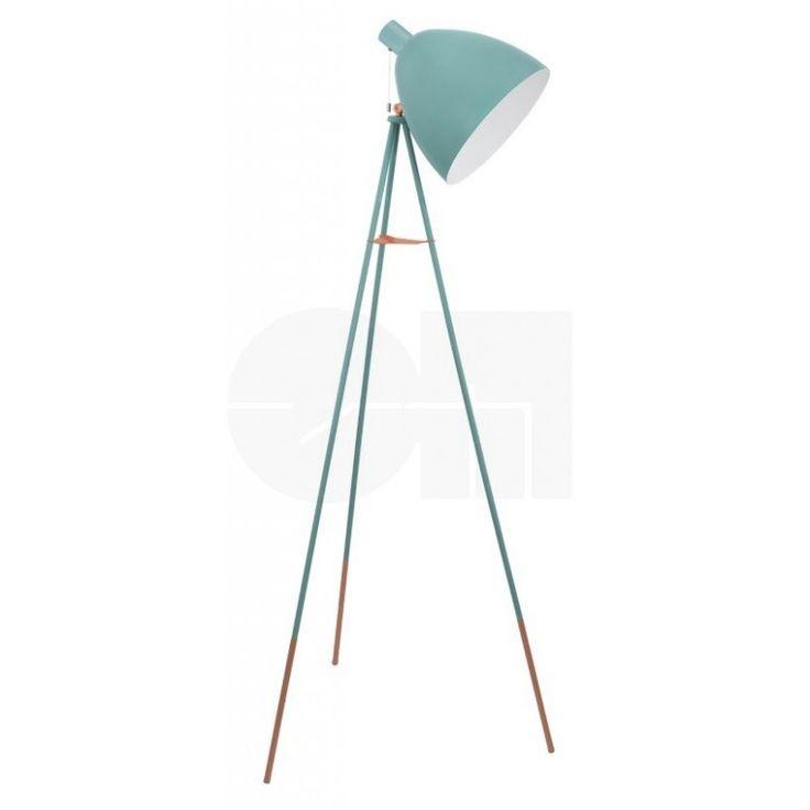 Φωτιστικό δαπέδου (επιδαπέδιο) - λαμπατέρ μονόφωτο, σε vintage/αντικέ στυλ, με βάση τρίποδο και καπέλο από ατσάλι. Dundee από την Eglo.  Διατίθεται σε αμμώδες και βεραμάν με χάλκινες λεπτομέρειες. --------------------------Floor lamp, vintage / antique style, tripod base and steel hat. Available in sand color and blue with bronze details. #floor #floorlamp #floorlight #modern #modernstyle #vintagestyle  #vintage #homedecor #housegoals #decorationideas #φωτιστικό #φωτισμός #papantoniougr