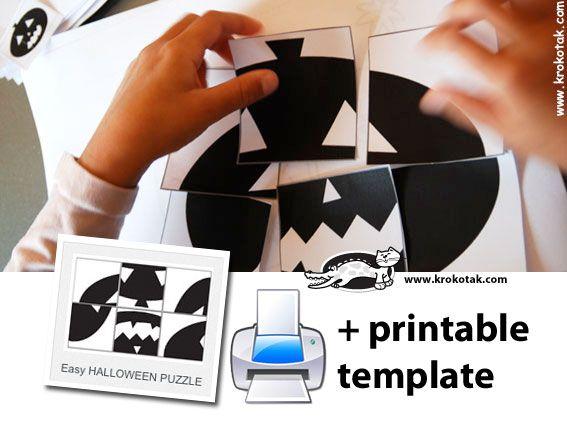halloween diy kids crafts Easy HALLOWEEN PUZZLE