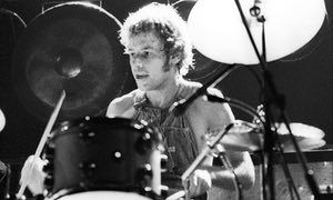 Bill Bruford on stage with King Crimson.