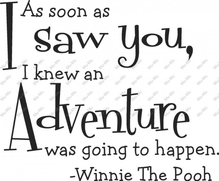Sticker Quote About Adventure By Winnie The Pooh ~