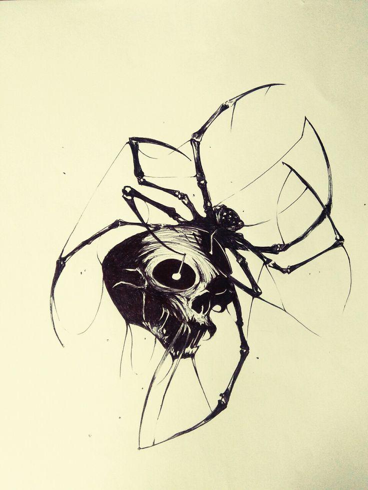 Картинки череп паук одно дерево