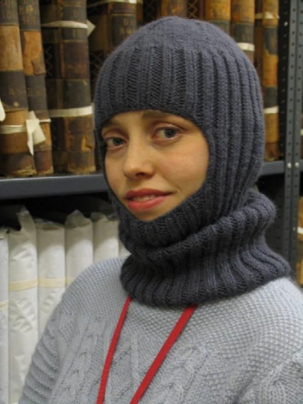 The author modelling the finished balaclava!