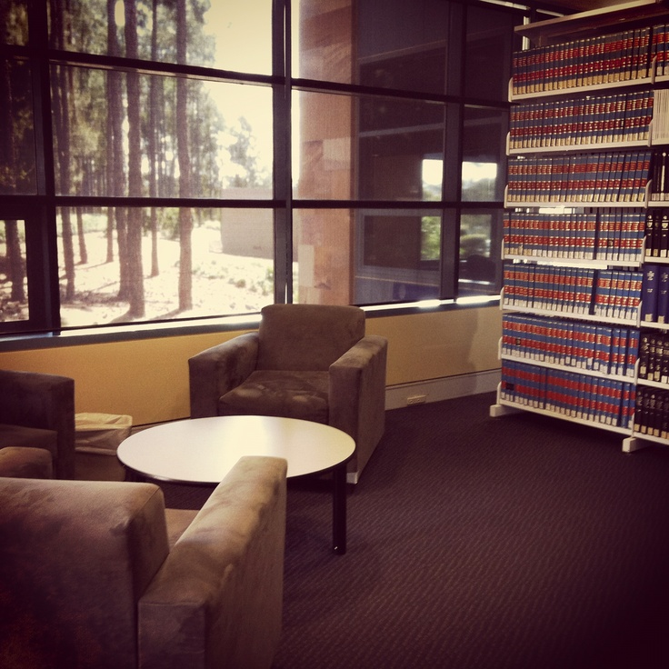 A cosy corner of the Bond University Law Library. Taken with Instagram.