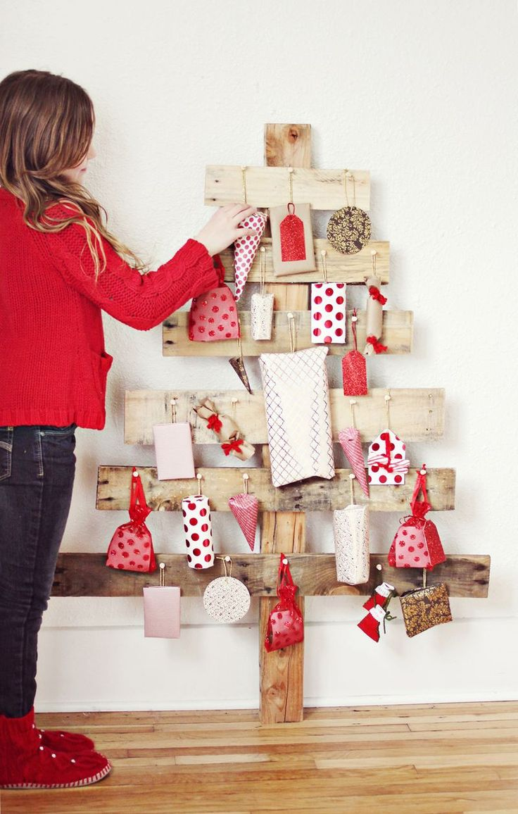 DIY Advent Tree - thinking this might replace my forest next year! LOVE!