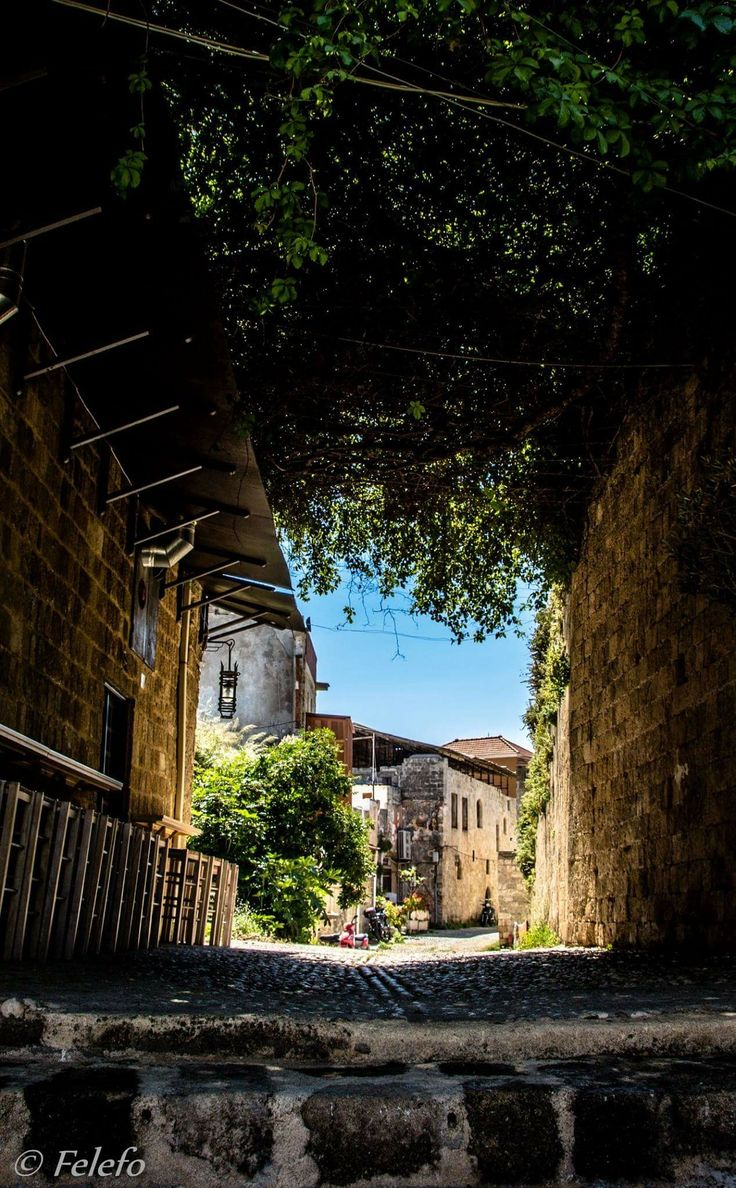The old town of Rhodos, Greece