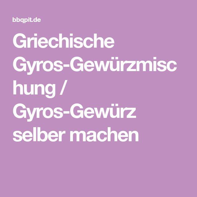 Griechische Gyros-Gewürzmischung / Gyros-Gewürz selber machen
