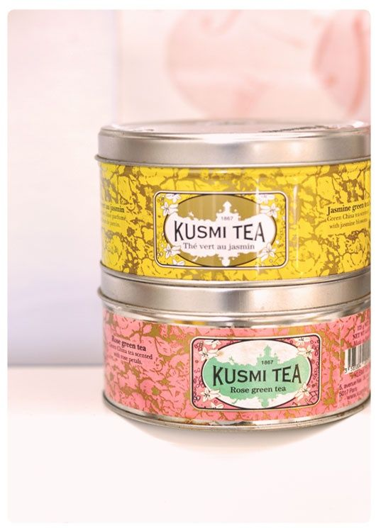 Jasmine Green Tea and Rose Green Tea by Kusmi Tea  Kusmi makes some of my favourite teas