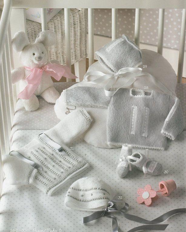 Solo ropita de bebe en punto ganchillo y tela bebe - Manualidades a ganchillo ...