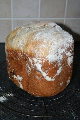 Cramique pour machine à pain avec raisins secs