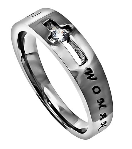 """I love this.  Wish I would have done something like this with my diamond!    Solitaire Ring """"Woman Of God"""" on SonGear.com"""