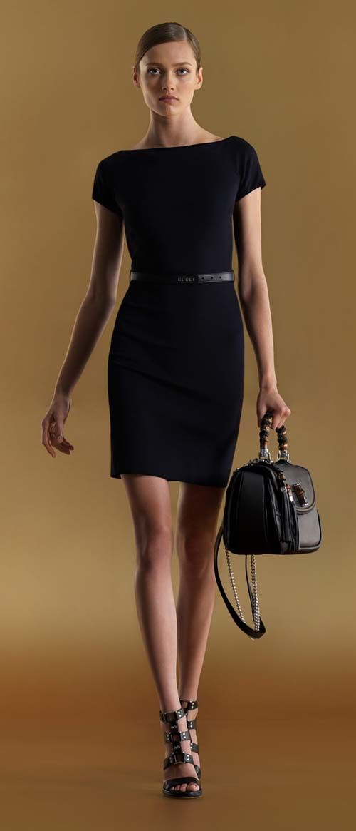 Bree's daughter relates to the little classic black dress...(Gucci)