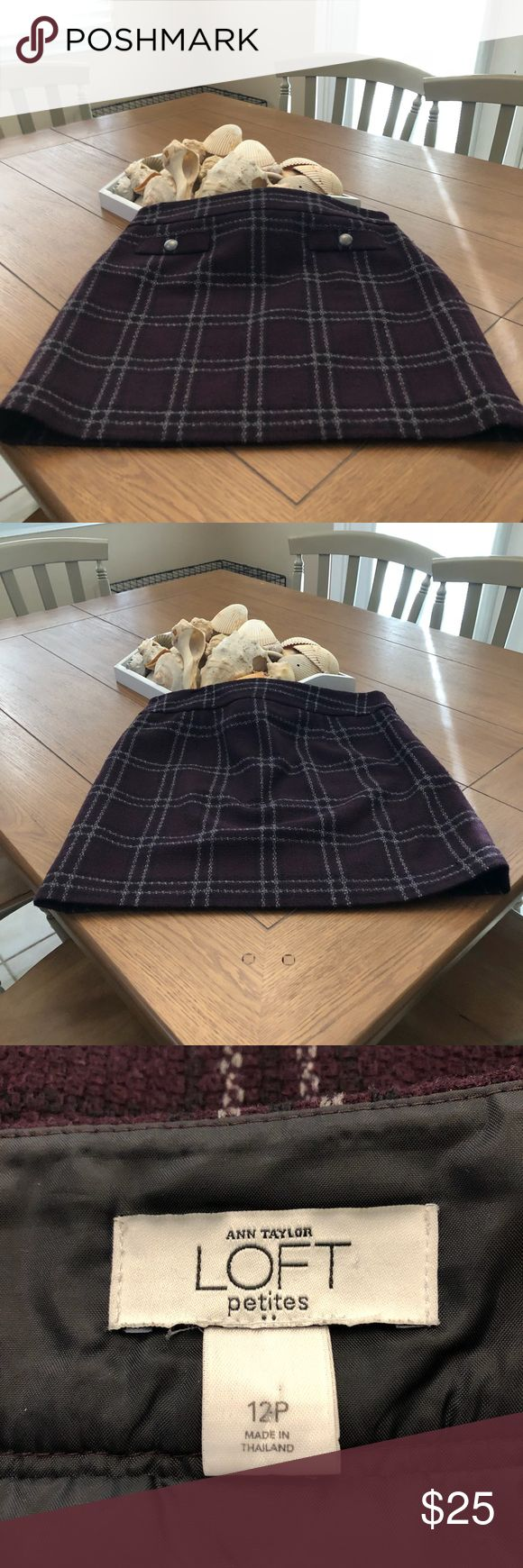 Cute Winter Mini Skirt This super cute skirt is great for work or going out. Works with a gray sweater or black sweater. Dry clean only. LOFT Skirts Mini