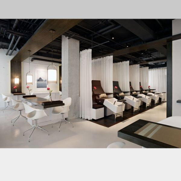 75 best adaptive reuse urban wellness images on for Modern salon stations