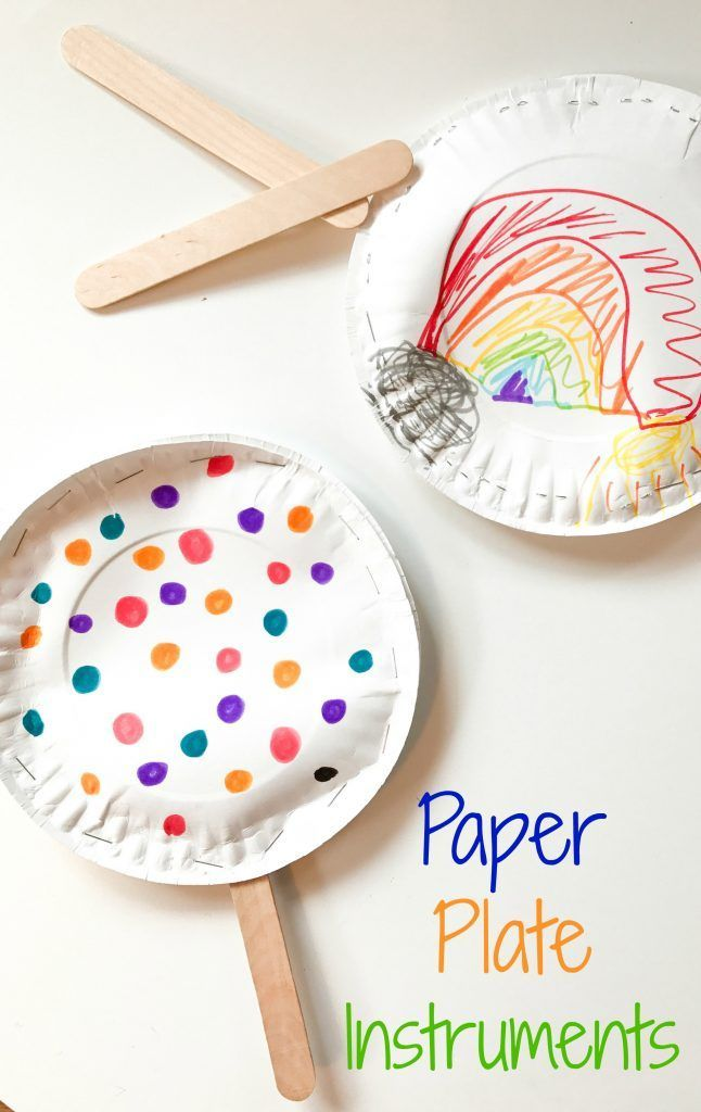Easy Paper Plate Instruments A Fun Rainy Day Activity For Kids