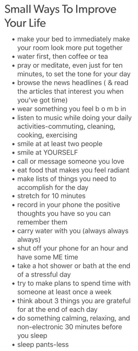 Small Ways To Improve Your Life