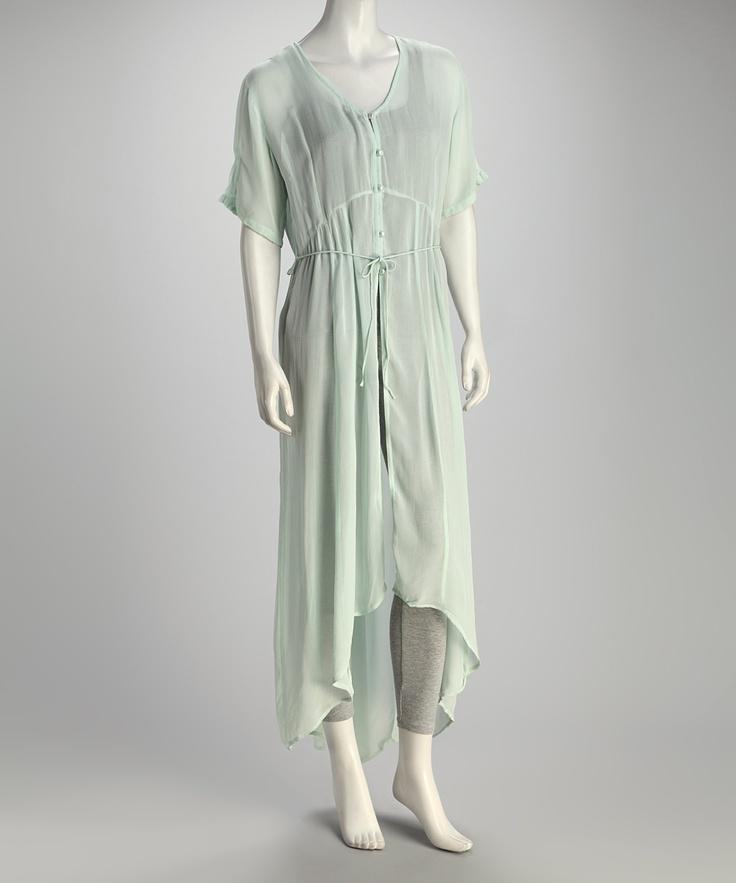 Mint Sheer Hi-Low Dress