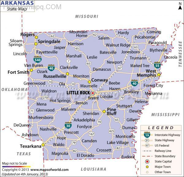 Best US States Images On Pinterest Road Maps Menu And United - Map of us arkansas