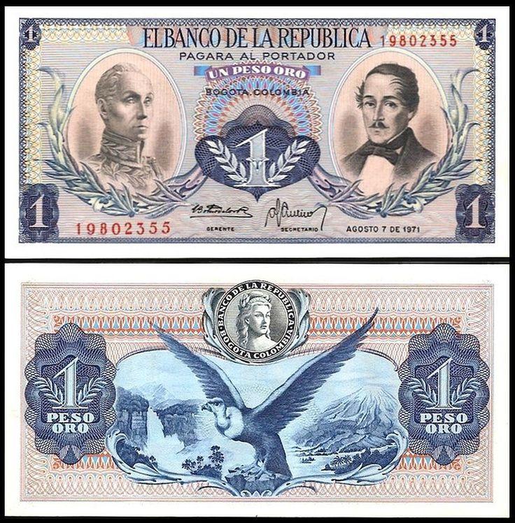Colombia 1 PESO ORO 7.8.1971 P 404e UNC