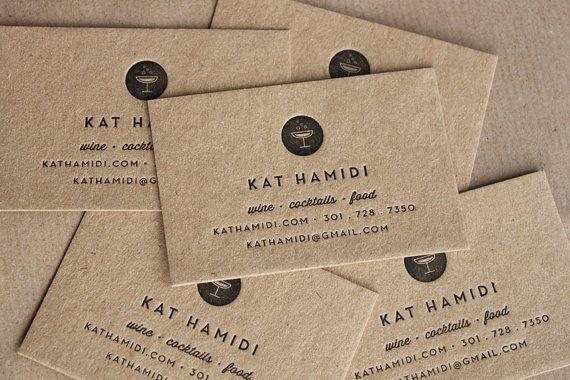 Letterpress Business Cards, Bespoke Design // made to order - set of 100