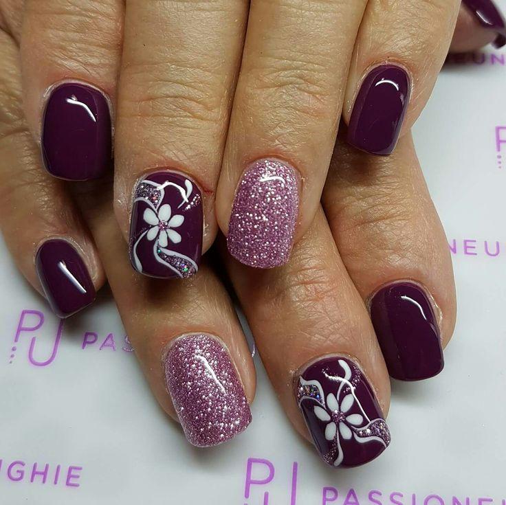 Bordeaux vinaccio viola unique rosa glitter fiori