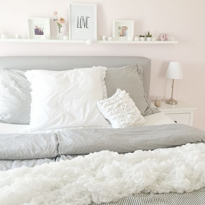 Schlafzimmer ideen ikea boxspringbett  Die besten 25+ Rosa schlafzimmer Ideen auf Pinterest | grau pinke ...