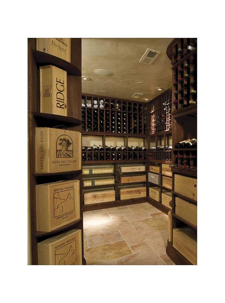 Gorgeous Wine Cellar with High-end Original Wine Cases and Boxes