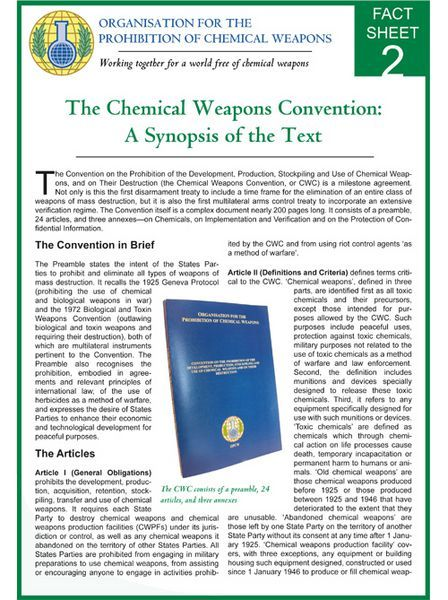 Best Opcw Fact Sheets Images On   Chemical Weapon