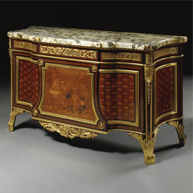 A LOUIS XVI STYLE COMMODE À RESSAUT, AFTER THE MODEL BY JEAN-HENRI RIESENER <br>French, circa 1895 | lot | Sotheby's