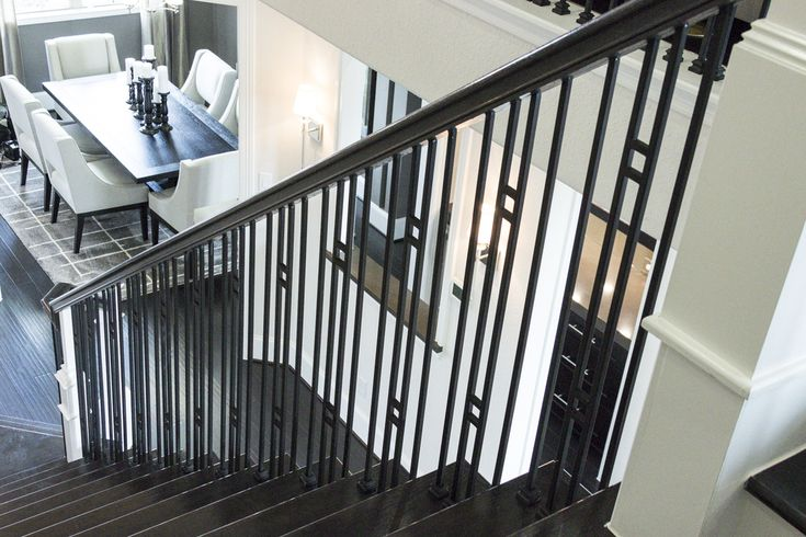 Best This Staircase Uses High Quality Wrought Iron Balusters To 400 x 300